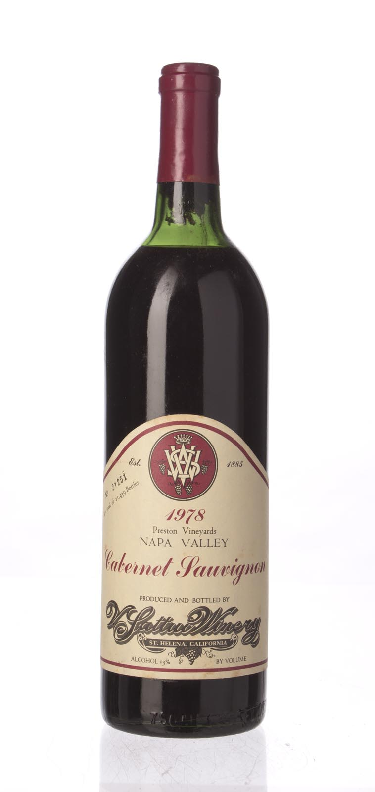 V. Sattui Cabernet Sauvignon Napa Valley 1978, 750mL () from The BPW - Merchants of rare and fine wines.