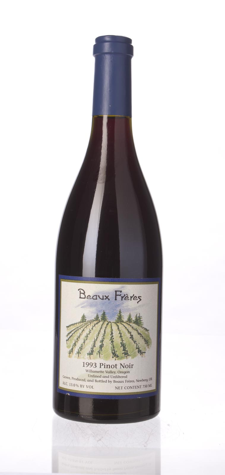 Beaux Freres Pinot Noir Beaux Freres Vineyard 1993, 750mL () from The BPW - Merchants of rare and fine wines.