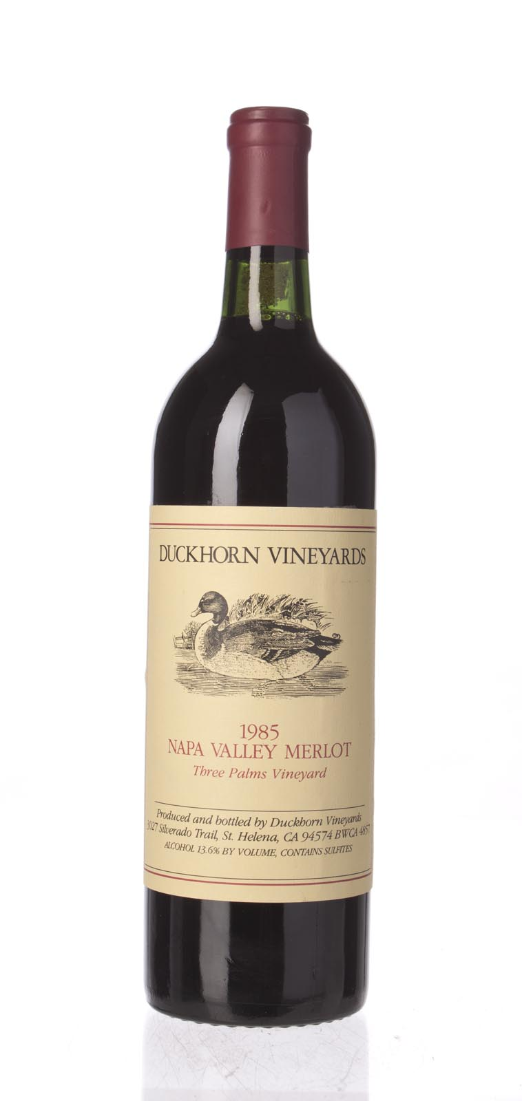Duckhorn Merlot Three Palms Vineyard 1985, 750mL (WS91) from The BPW - Merchants of rare and fine wines.