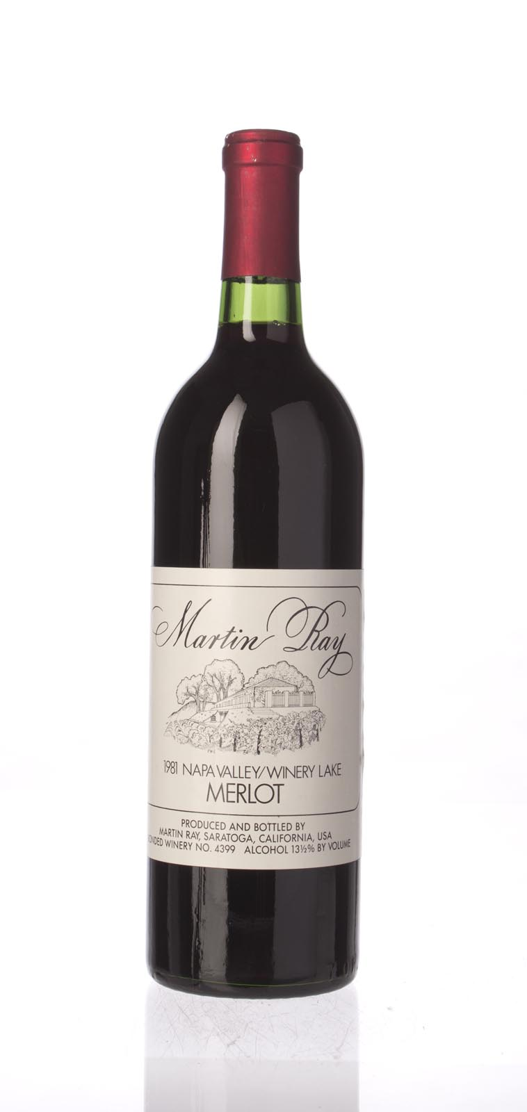 Martin Ray Winery Merlot Winery Lake 1981, 750mL () from The BPW - Merchants of rare and fine wines.