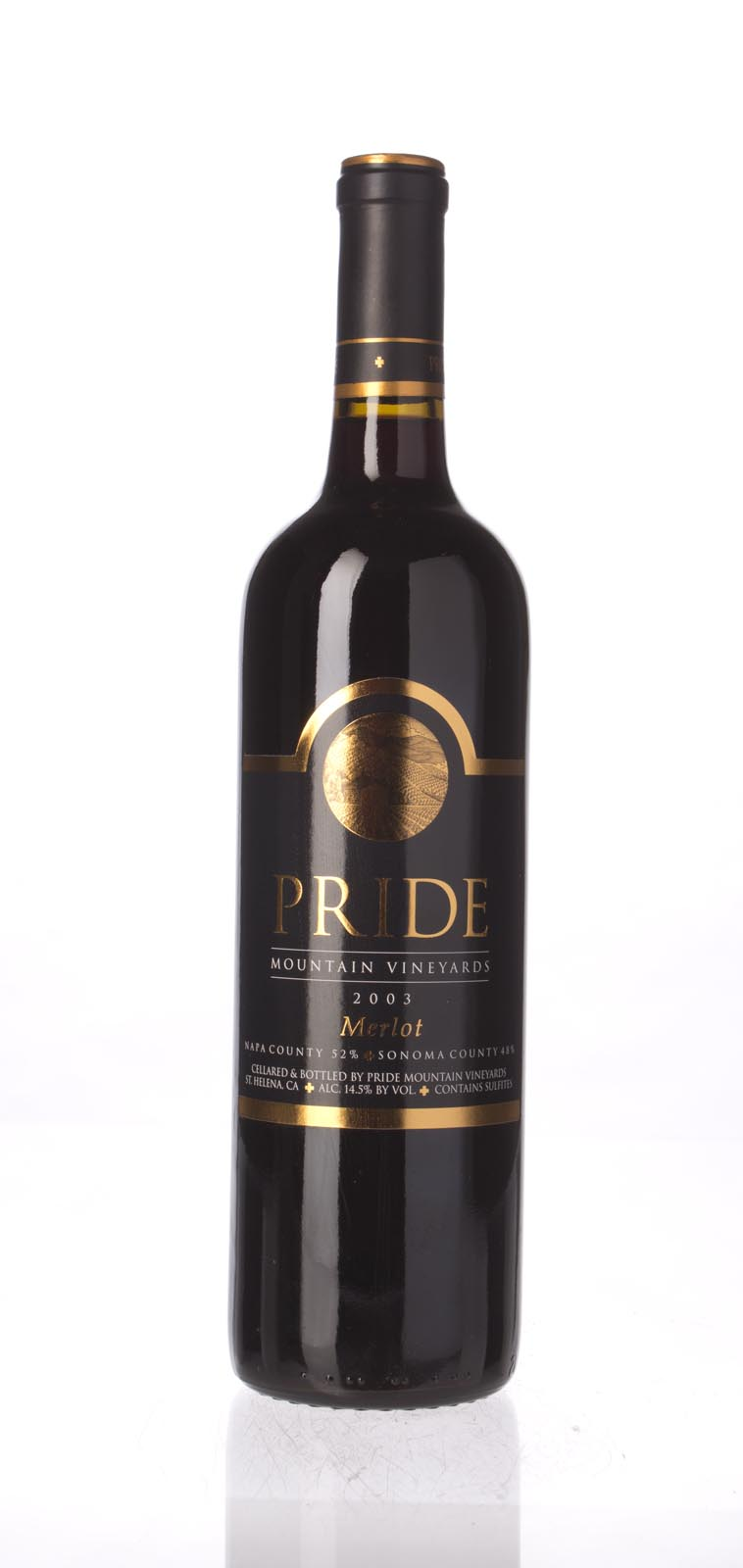 Pride Mountain Vineyards Merlot Napa/Sonoma 2003, 750mL (ST92, WS92) from The BPW - Merchants of rare and fine wines.
