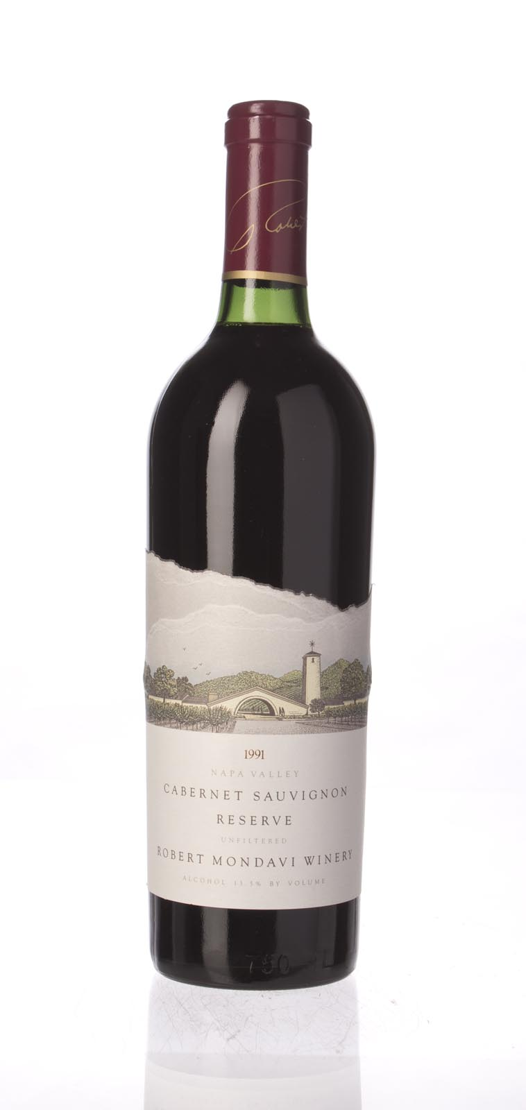 Robert Mondavi Cabernet Sauvignon Reserve 1991, 750mL (WA96) from The BPW - Merchants of rare and fine wines.