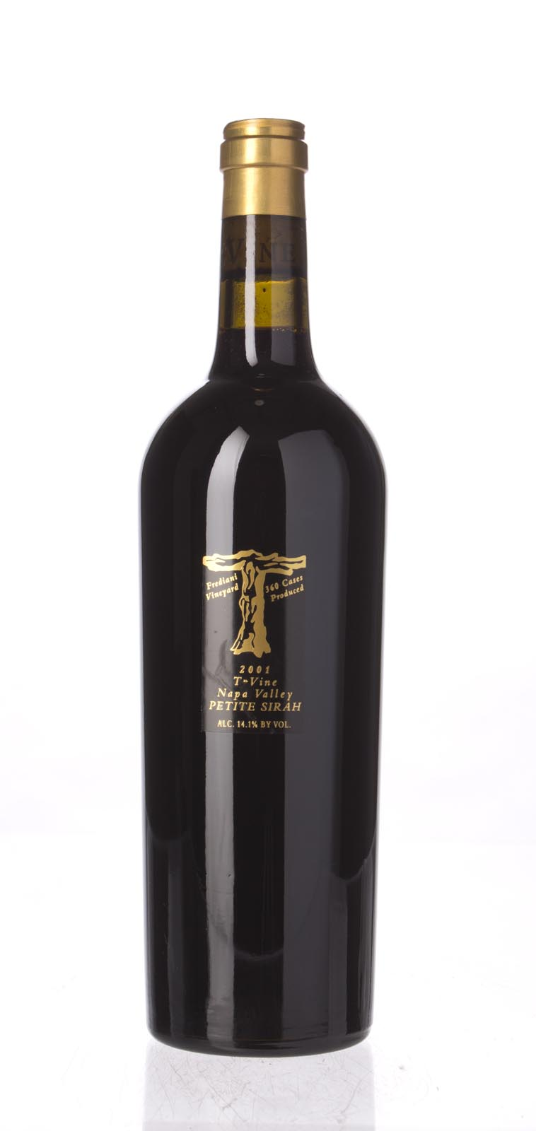 T Vine Petite Sirah Frediani Vineyard 2001, 750mL () from The BPW - Merchants of rare and fine wines.