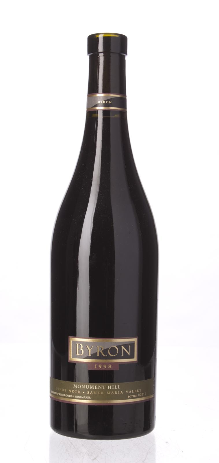 Byron Pinot Noir Monument Hill 1998, 750mL () from The BPW - Merchants of rare and fine wines.