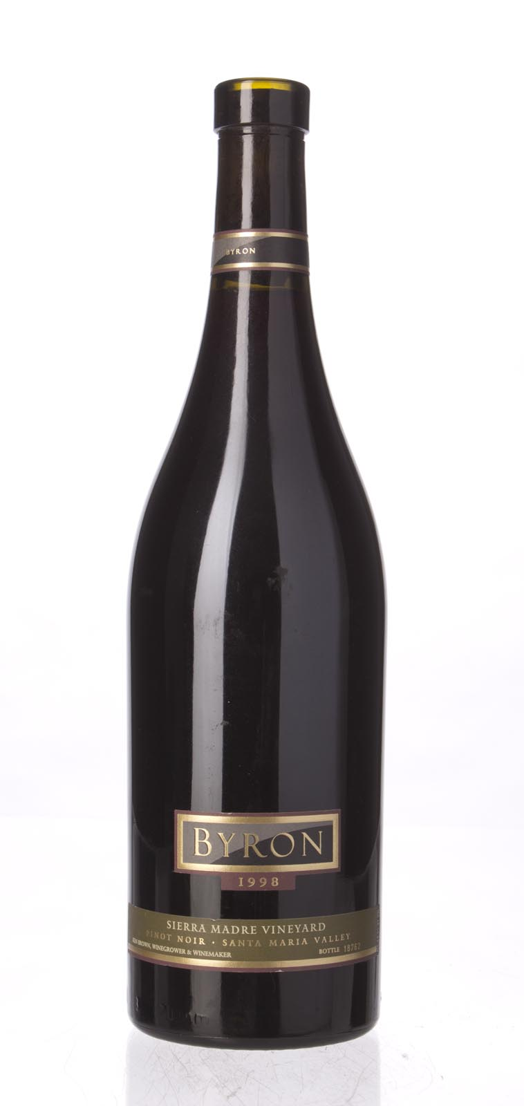 Byron Pinot Noir Sierra Madre Vineyard 1998, 750mL () from The BPW - Merchants of rare and fine wines.