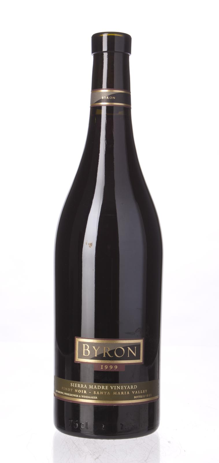 Byron Pinot Noir Sierra Madre Vineyard 1999, 750mL (WA88) from The BPW - Merchants of rare and fine wines.