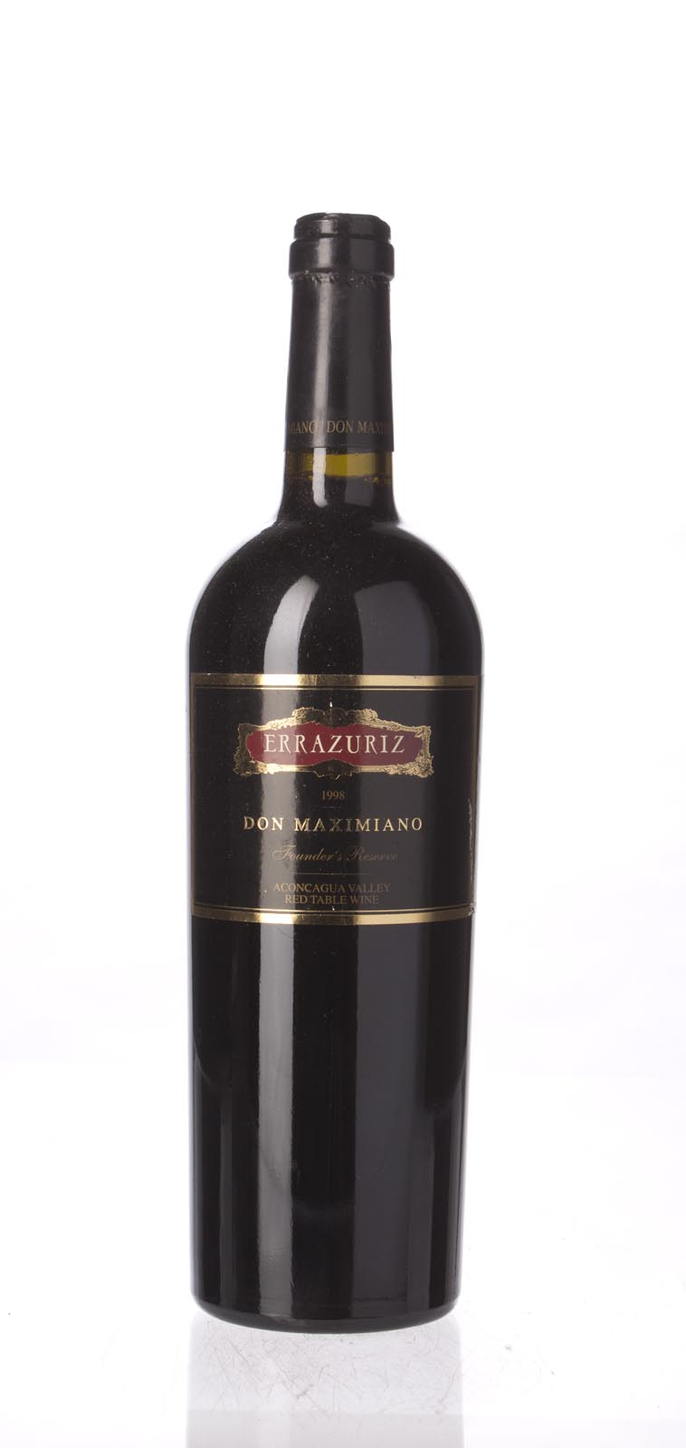 Errazuriz Proprietary Red Don Maximiano Founder`s Reserve 1998, 750mL () from The BPW - Merchants of rare and fine wines.