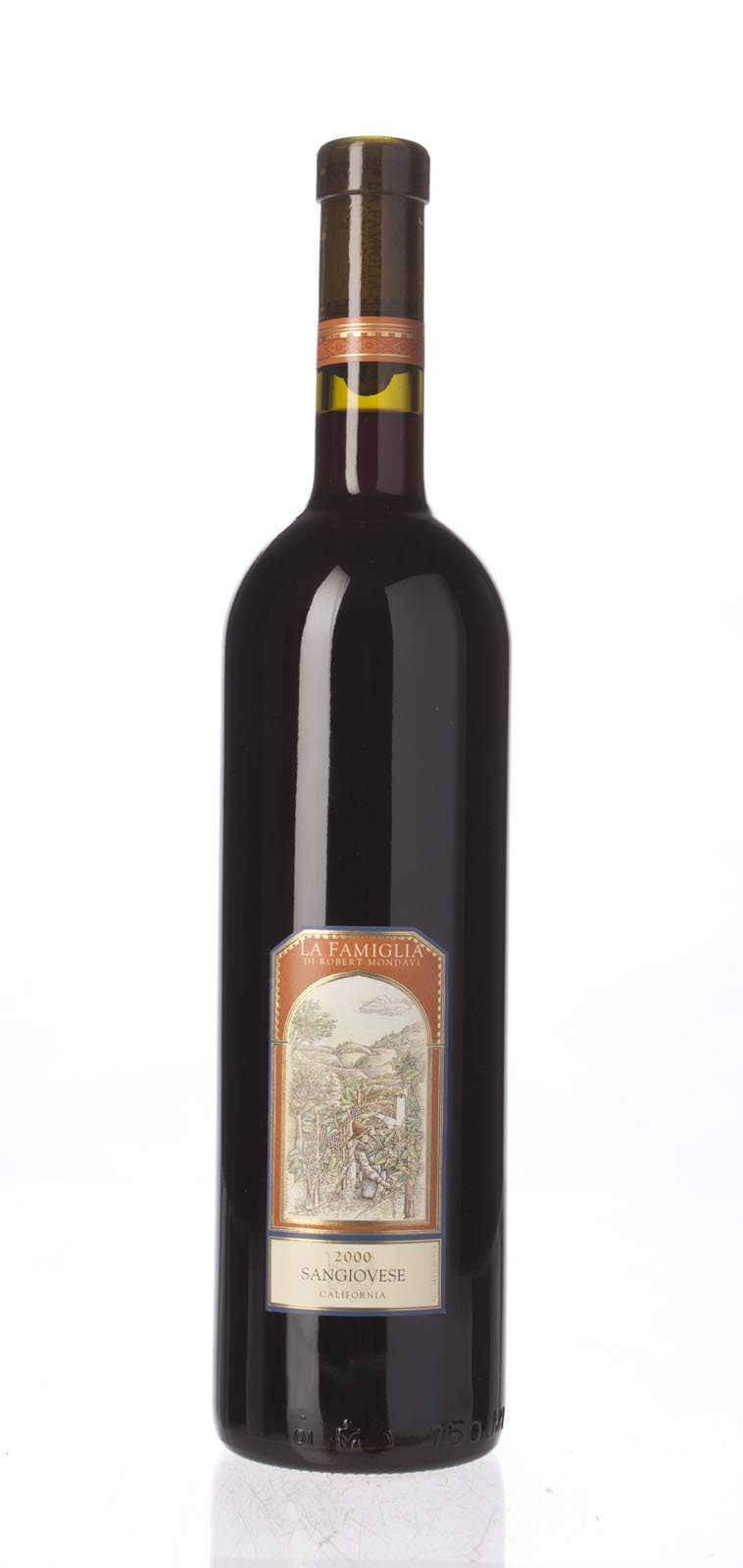 La Famiglia di Robert Mondavi Sangiovese 2000, 750mL () from The BPW - Merchants of rare and fine wines.