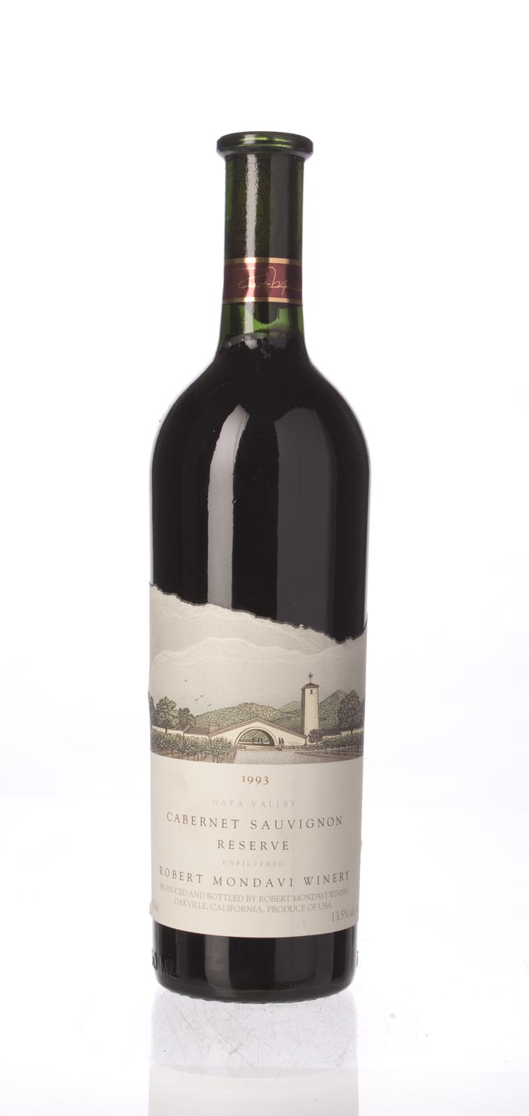 Robert Mondavi Cabernet Sauvignon Reserve 1993, 750mL (WA93) from The BPW - Merchants of rare and fine wines.