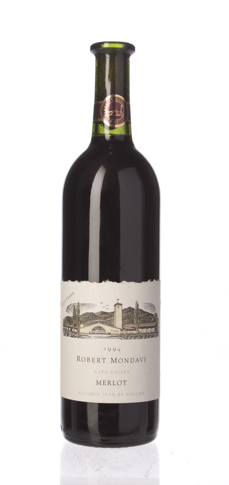 Robert Mondavi Merlot Napa Valley 1994, 750mL () from The BPW - Merchants of rare and fine wines.