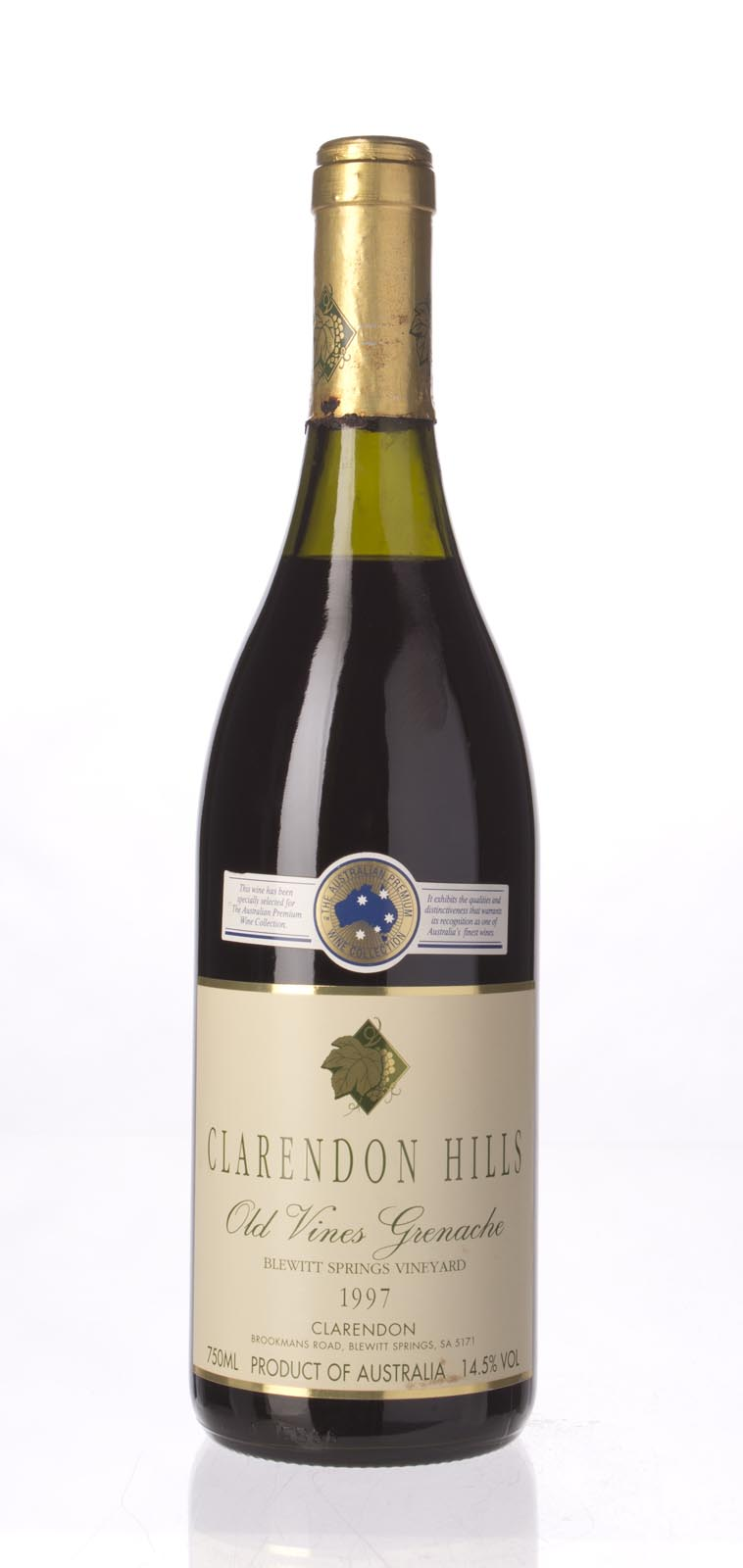 Clarendon Hills Grenache Old Vine Blewitt Springs Vineyard 1997, 750mL (ST93) from The BPW - Merchants of rare and fine wines.