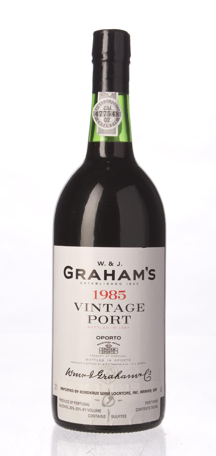 Graham Vintage Port 1985,  (WS96) from The BPW - Merchants of rare and fine wines.