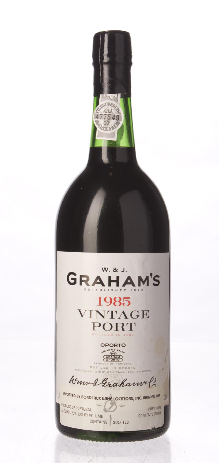 Graham Vintage Port 1985, 750mL (WS96) from The BPW - Merchants of rare and fine wines.