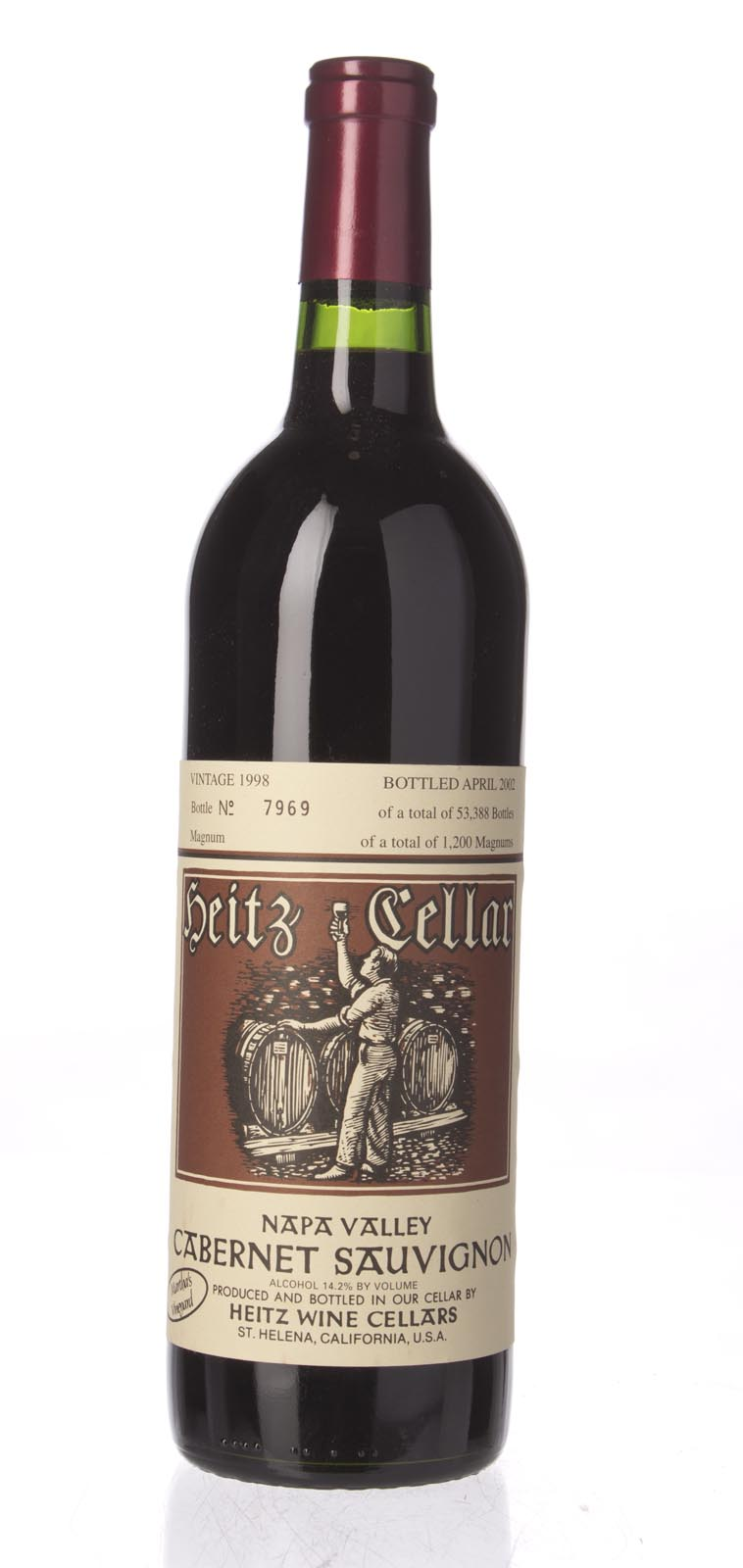 Heitz Cabernet Sauvignon Martha`s Vineyard 1998, 750ml () from The BPW - Merchants of rare and fine wines.