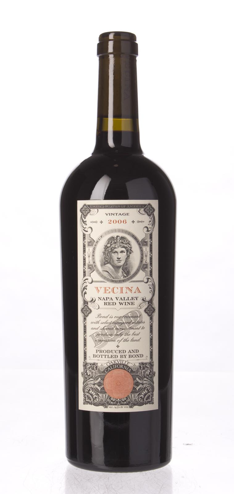 Bond Vecina 2006, 750mL (JS93, WA95+, ST95) from The BPW - Merchants of rare and fine wines.