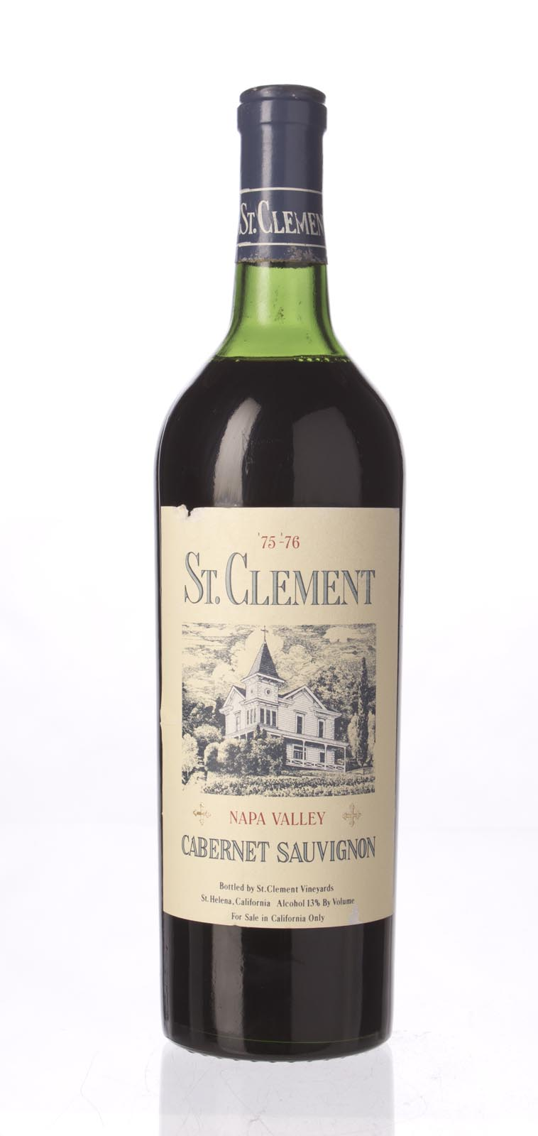 St. Clement Cabernet Sauvignon Napa Valley `75/76` N.V., 750mL () from The BPW - Merchants of rare and fine wines.