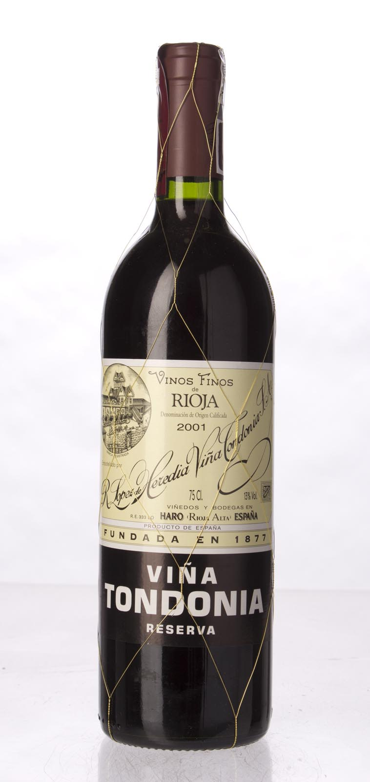 Lopez de Heredia Vina Tondonia Reserva 2001, 750ml (WA95) from The BPW - Merchants of rare and fine wines.