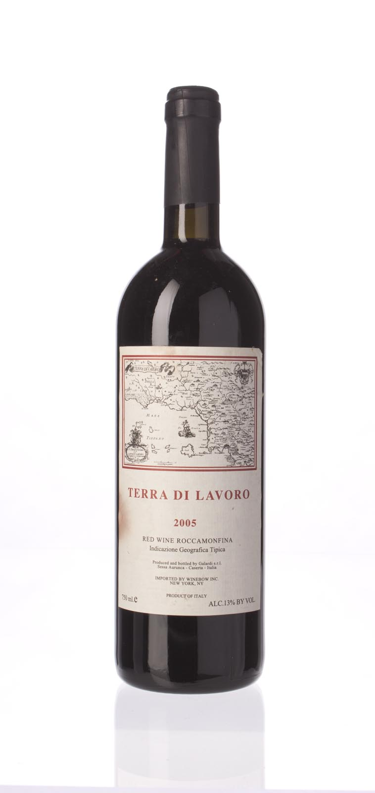 Fattoria Galardi Terra di Lavoro 2005, 750mL (WA93) from The BPW - Merchants of rare and fine wines.