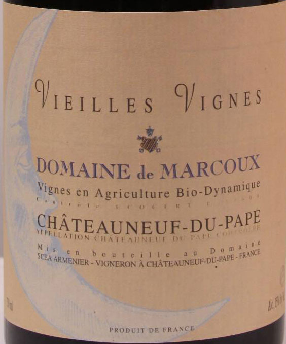 Domaine de Marcoux Chateauneuf du Pape Vieilles Vignes 2005, 750ml (WA97, ST97, WS95) from The BPW - Merchants of rare and fine wines.