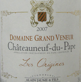 Domaine Grand Veneur Chateauneuf du Pape Cuvee les Origines 2007, 750ml (WA96) from The BPW - Merchants of rare and fine wines.