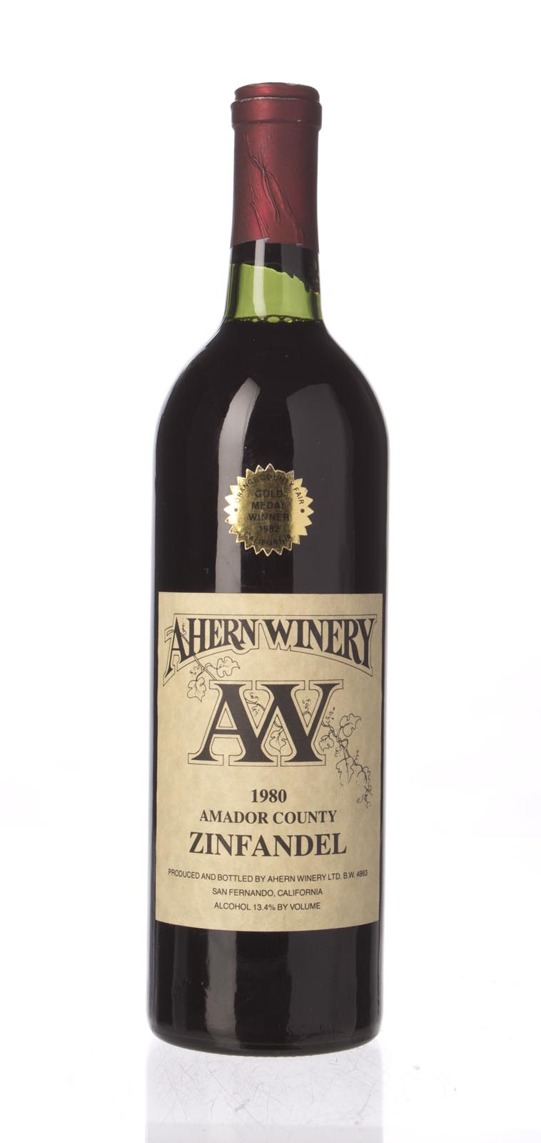 Ahern Zinfandel 1980, 750mL () from The BPW - Merchants of rare and fine wines.