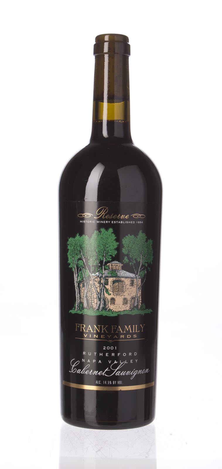 Frank Family Cabernet Sauvignon Rutherford Reserve 2001, 750ml (WA88) from The BPW - Merchants of rare and fine wines.