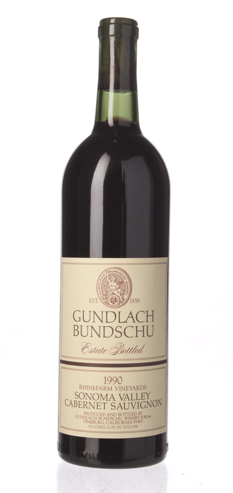 Gundlach Bundschu Cabernet Sauvignon Rhinefarm Vineyards 1990, 750ml () from The BPW - Merchants of rare and fine wines.