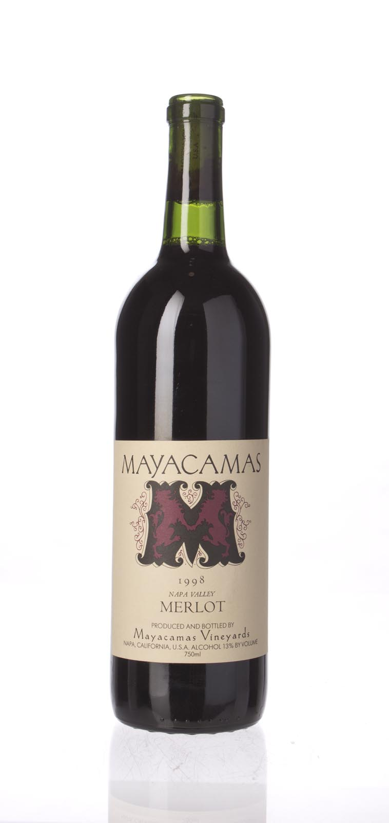Mayacamas Merlot 1998, 750ml () from The BPW - Merchants of rare and fine wines.