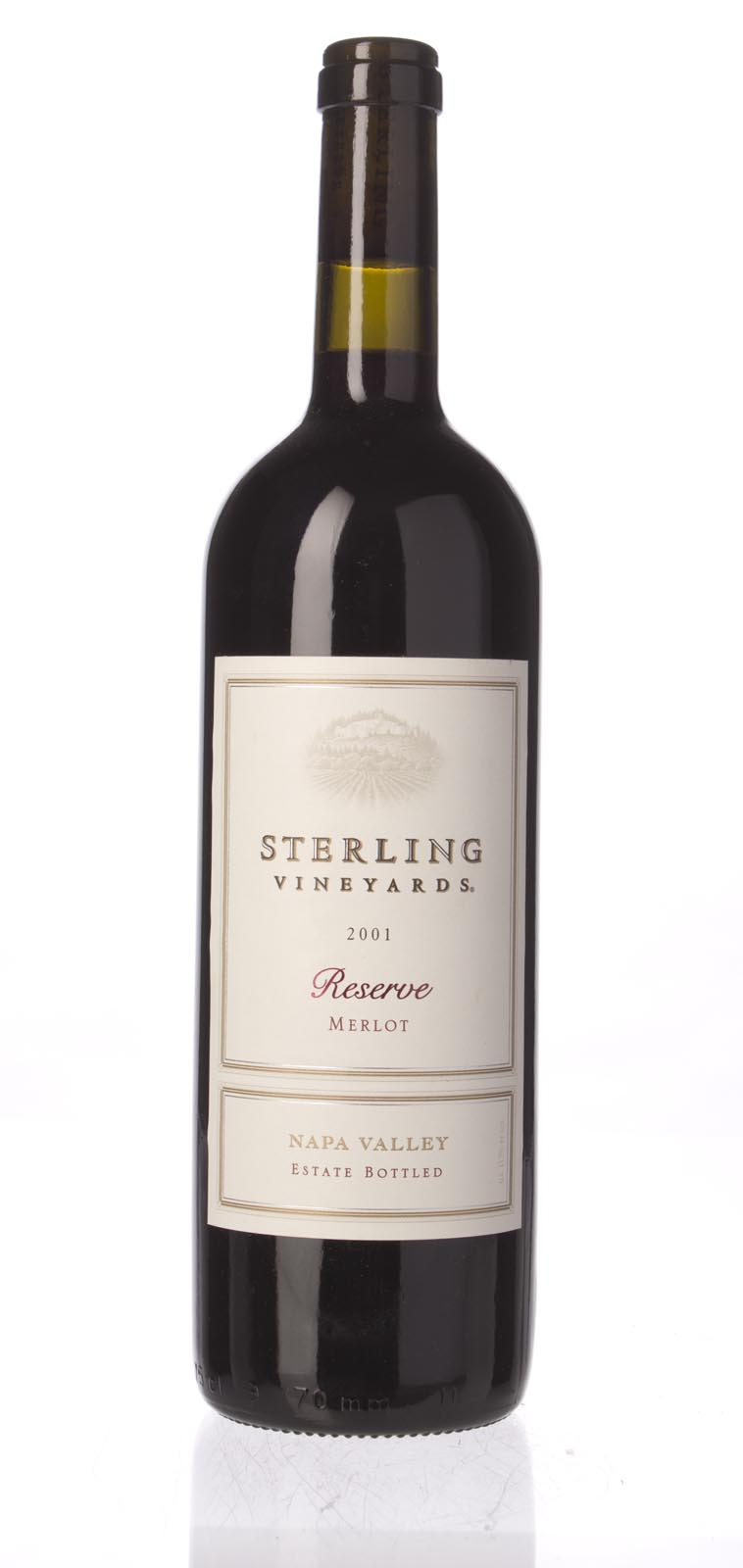 Sterling Vineyards Merlot Reserve 2001, 750mL () from The BPW - Merchants of rare and fine wines.