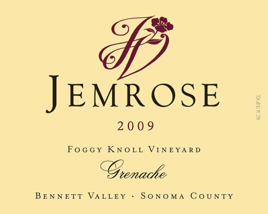 Jemrose Vineyard Grenache Foggy Knoll Vineyard 2009, 750ml () from The BPW - Merchants of rare and fine wines.