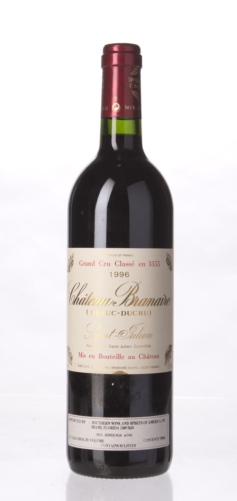 Branaire Ducru 1996, 750ml (ST90) from The BPW - Merchants of rare and fine wines.