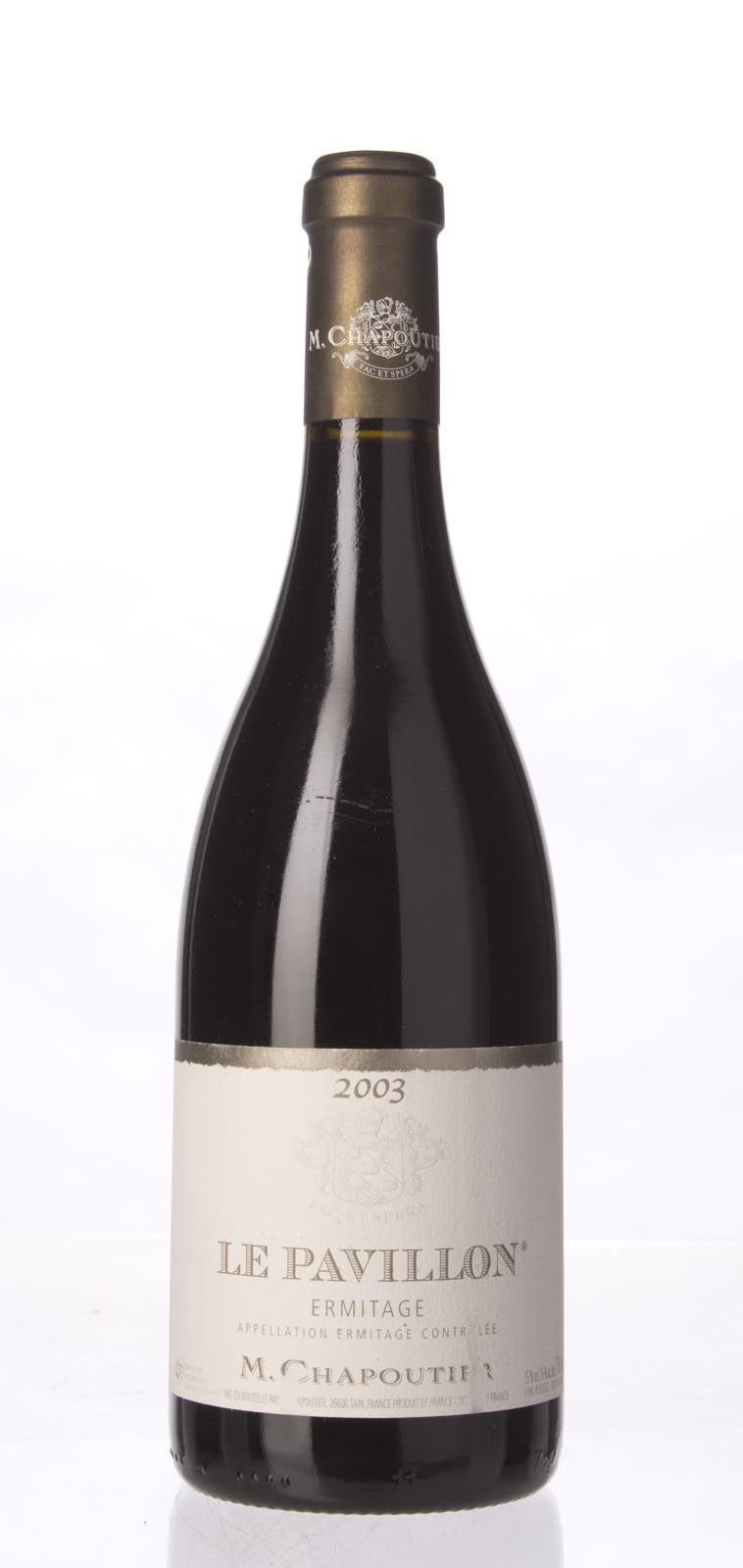 Chapoutier Ermitage le Pavillon 2003,  (WA100) from The BPW - Merchants of rare and fine wines.