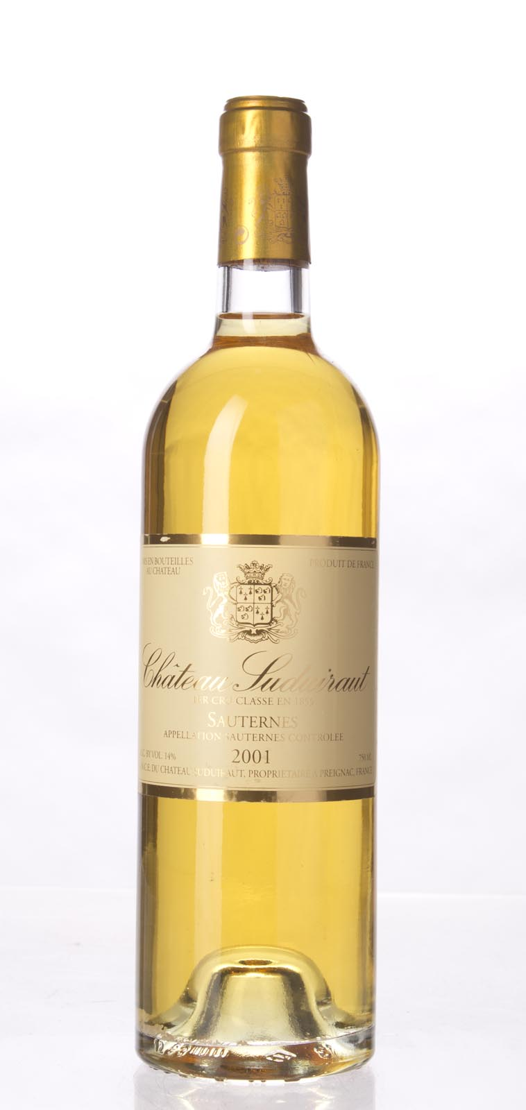 Chateau de Suduiraut 2001,  (WA98, WS98) from The BPW - Merchants of rare and fine wines.