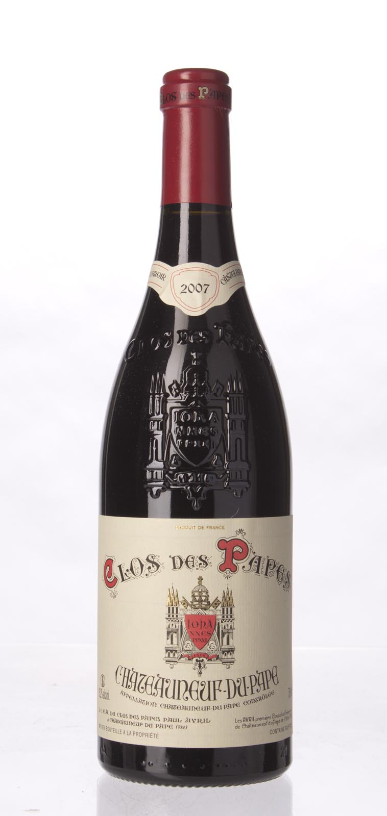 Clos des Papes Chateauneuf du Pape 2007,  (WA99+, WS97) from The BPW - Merchants of rare and fine wines.