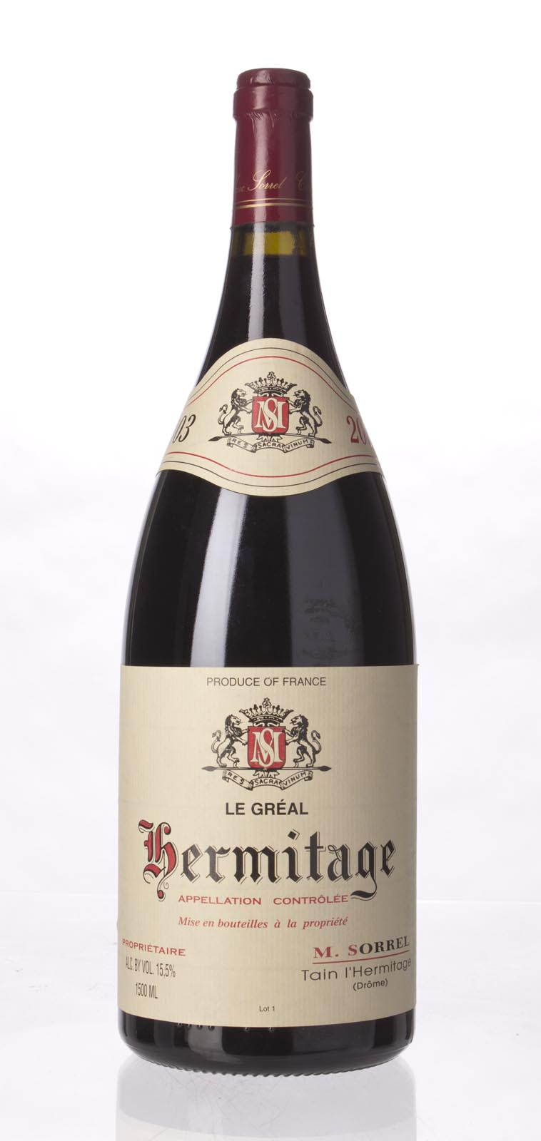 M. Sorrel Hermitage le Greal 2003, 1.5L (WA96, ST94-97) from The BPW - Merchants of rare and fine wines.