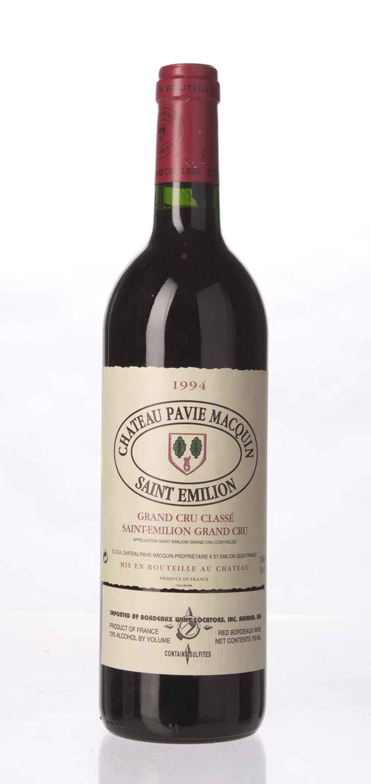 Pavie Macquin 1994,  (WA88) from The BPW - Merchants of rare and fine wines.
