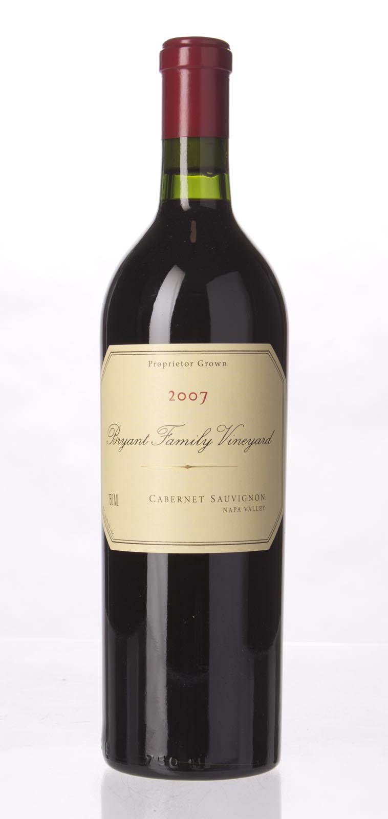 Bryant Family Vineyard Cabernet Sauvignon Pritchard Hill 2007,  (JS98, WA97+, WS97) from The BPW - Merchants of rare and fine wines.