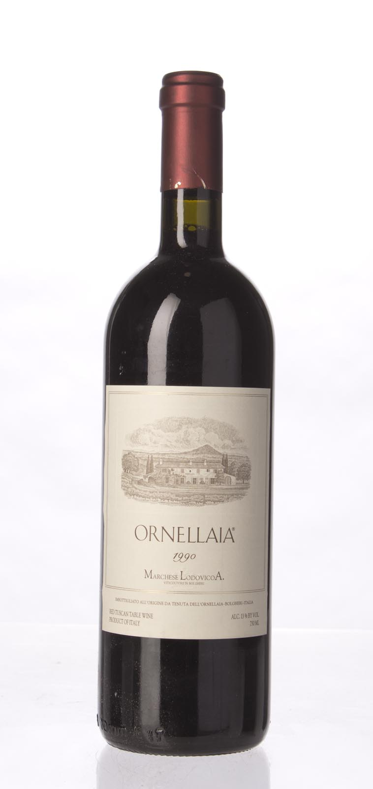 Tenuta dell`Ornellaia `Ornellaia` 1990,  (ST96, WS96) from The BPW - Merchants of rare and fine wines.