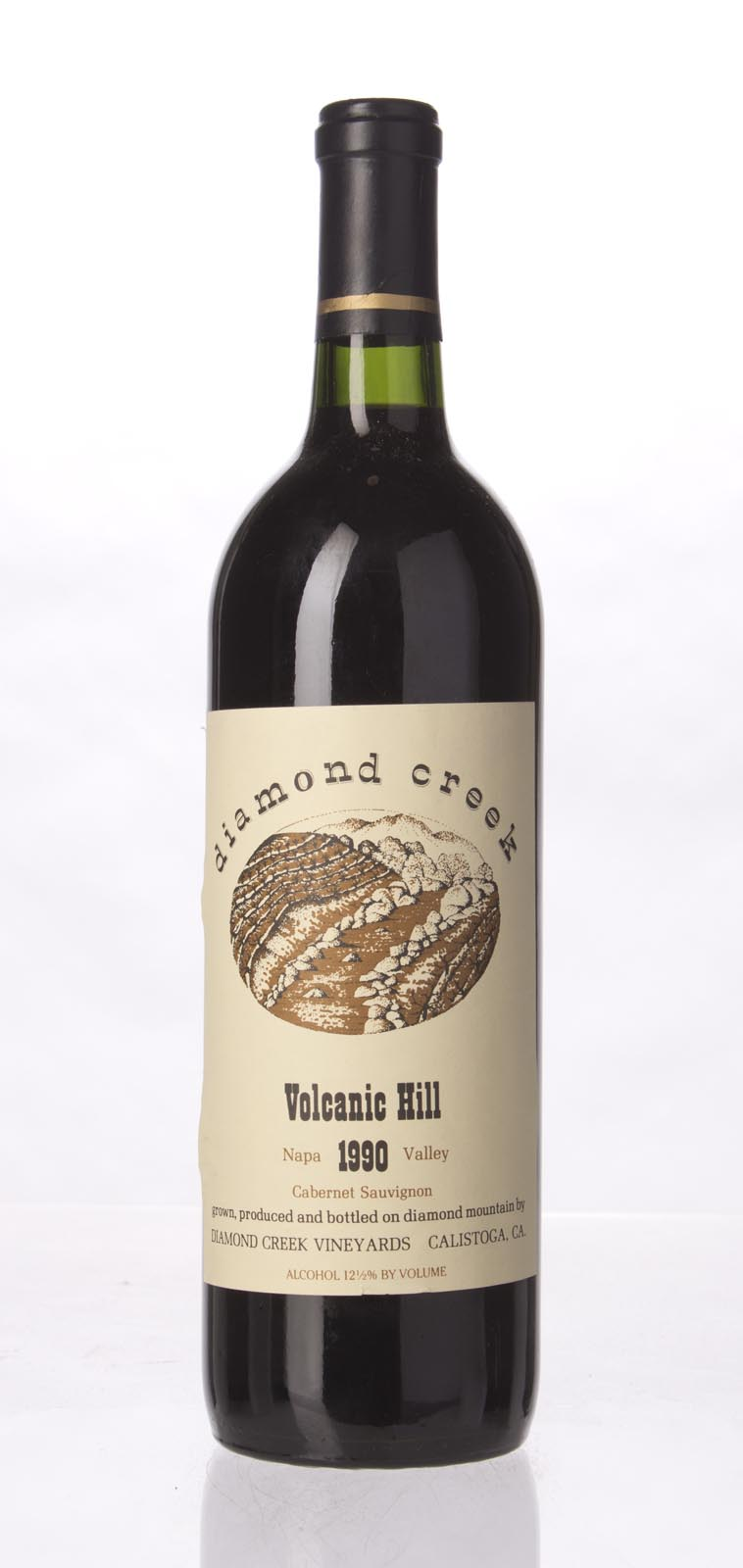 Diamond Creek Cabernet Sauvignon Volcanic Hill 1990,  (WS93) from The BPW - Merchants of rare and fine wines.