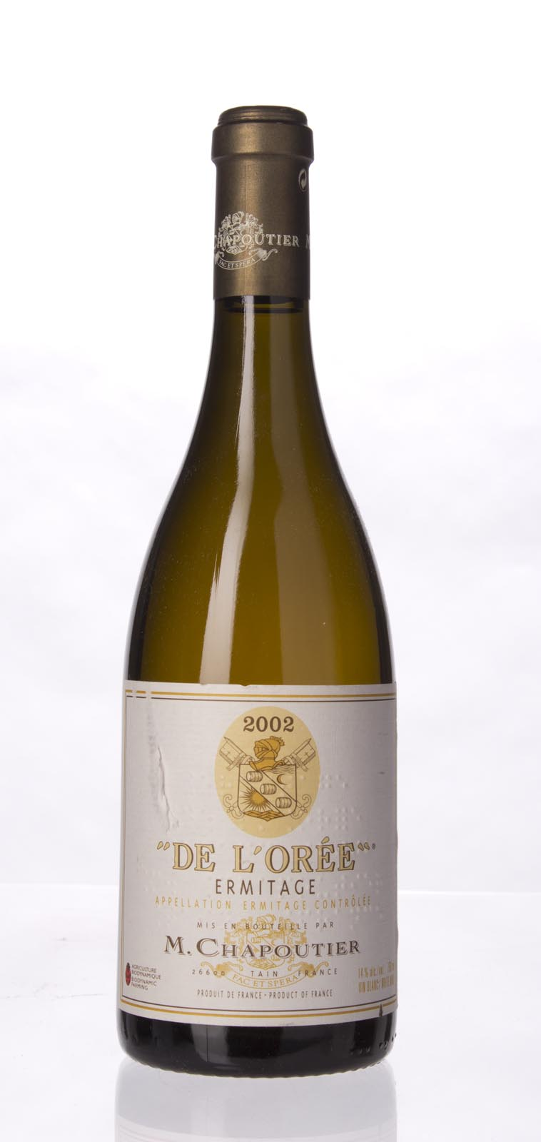 Chapoutier Ermitage Blanc Cuvee de l`Oree 2002, 750mL (WA93, WS92) from The BPW - Merchants of rare and fine wines.