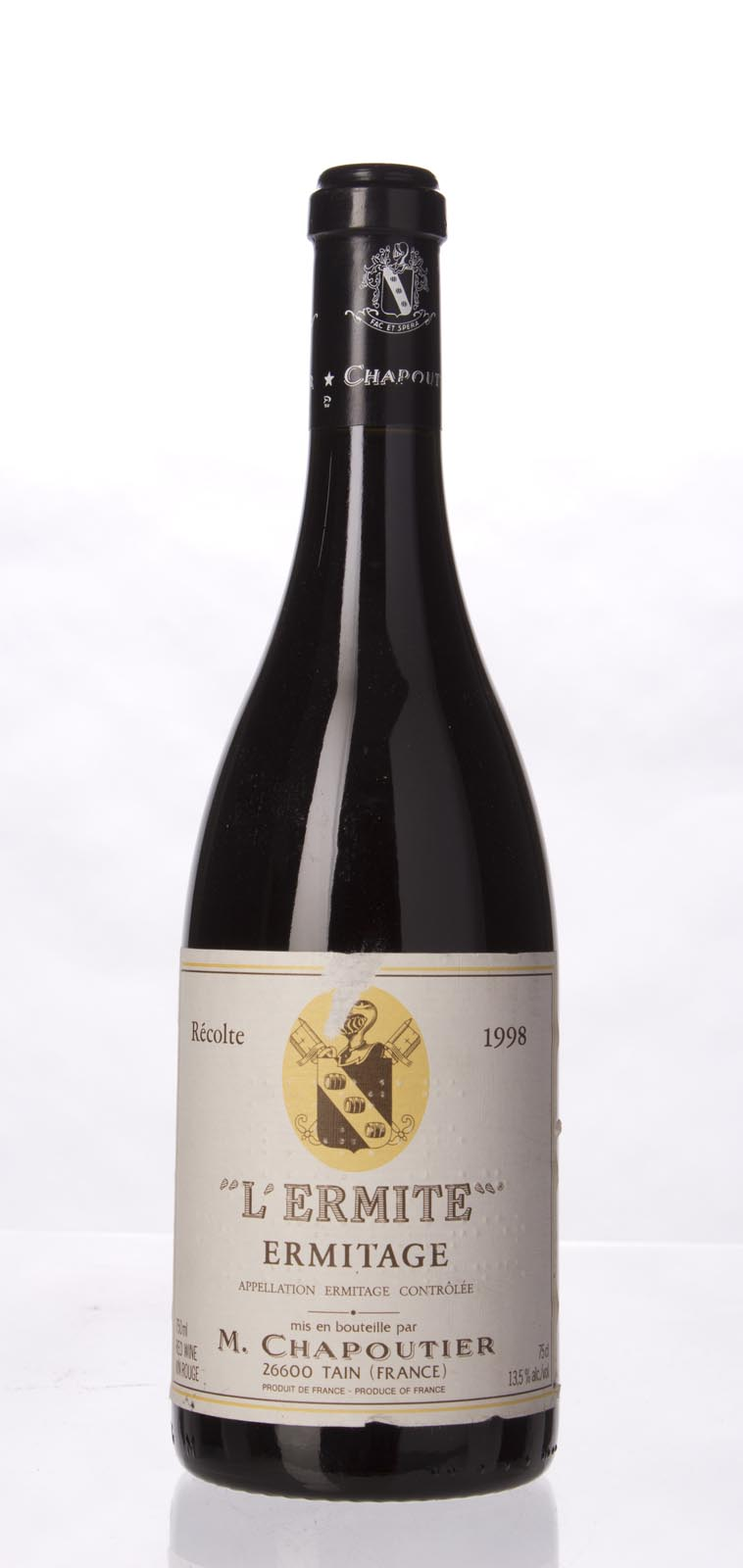 Chapoutier Ermitage l`Ermite 1998, 750mL (WA98) from The BPW - Merchants of rare and fine wines.