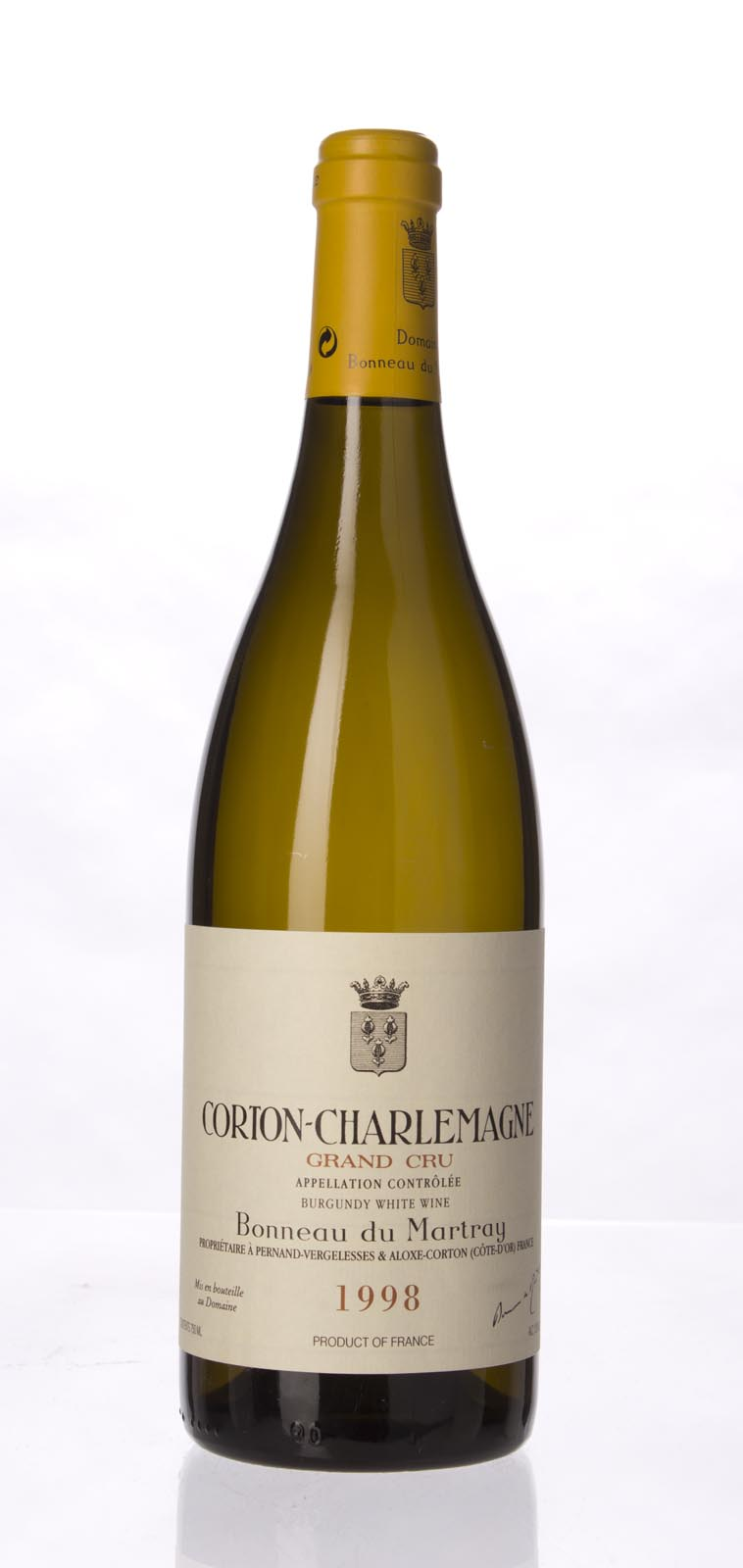 Domaine Bonneau du Martray Corton Charlemagne 1998, 750mL (WS93) from The BPW - Merchants of rare and fine wines.