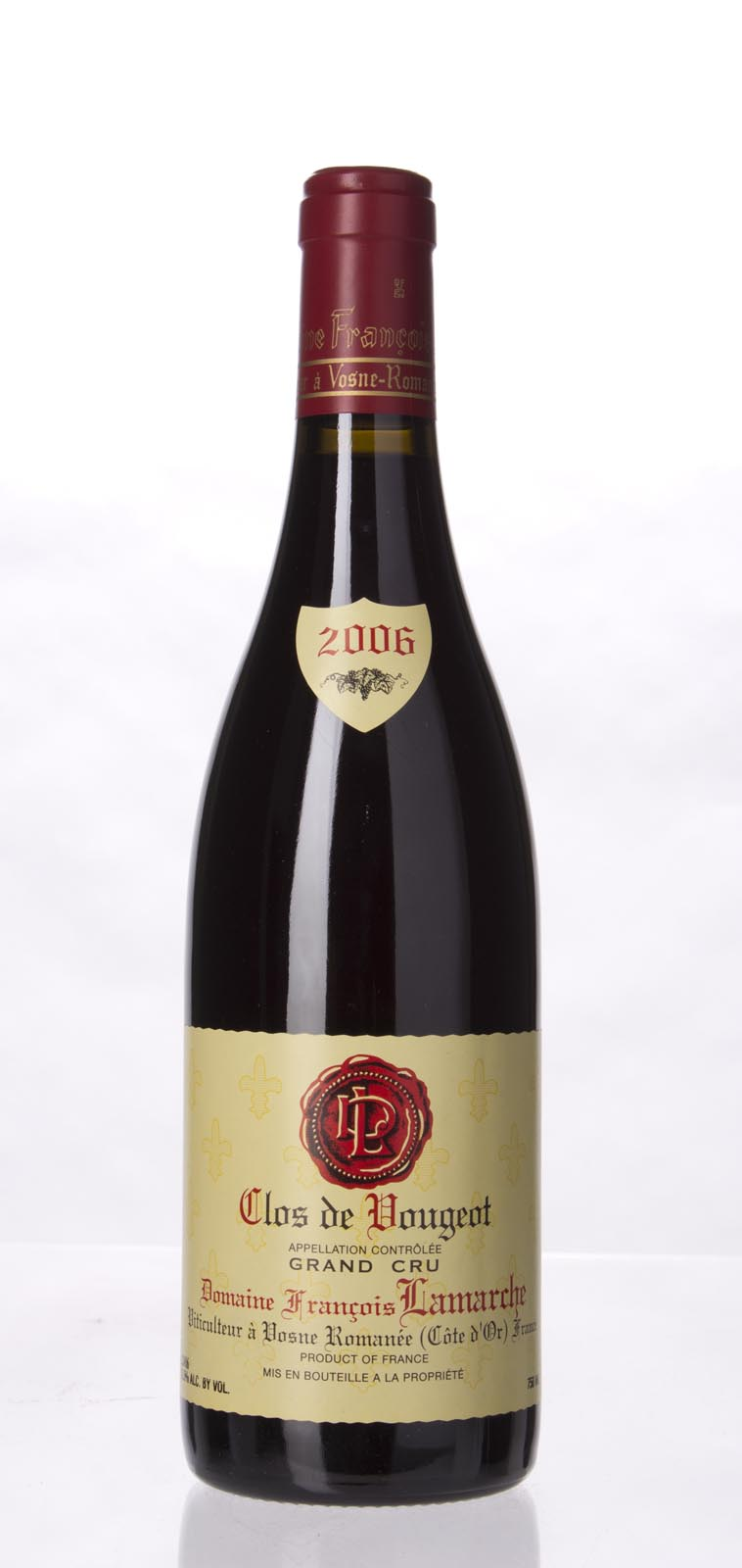Domaine Francois Lamarche Clos Vougeot 2006, 750mL (ST89-92) from The BPW - Merchants of rare and fine wines.