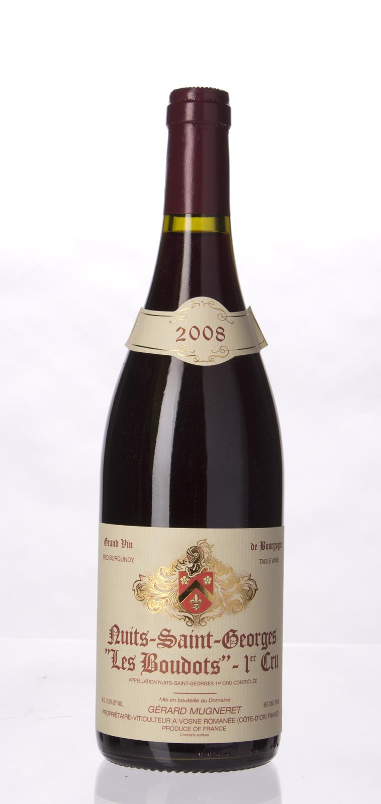 Domaine Gerard Mugneret Nuits St. Georges les Boudots 2008, 750mL (BH91) from The BPW - Merchants of rare and fine wines.