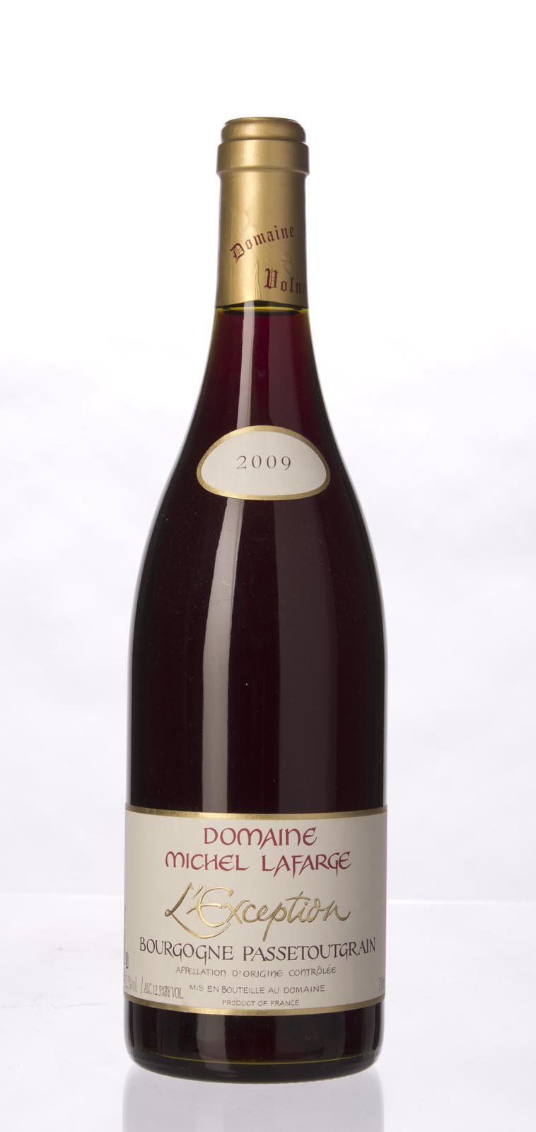 Domaine Michel Lafarge Bourgogne Passetoutgrains l`Exception 2009, 750mL () from The BPW - Merchants of rare and fine wines.