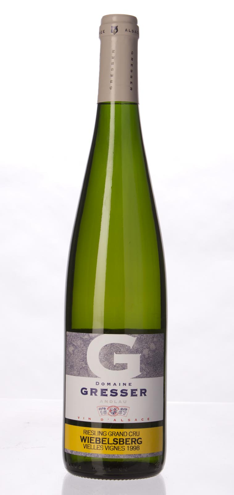 Domaine Remy Gresser Riesling Wiebelsberg Vieilles Vignes 1998,  () from The BPW - Merchants of rare and fine wines.