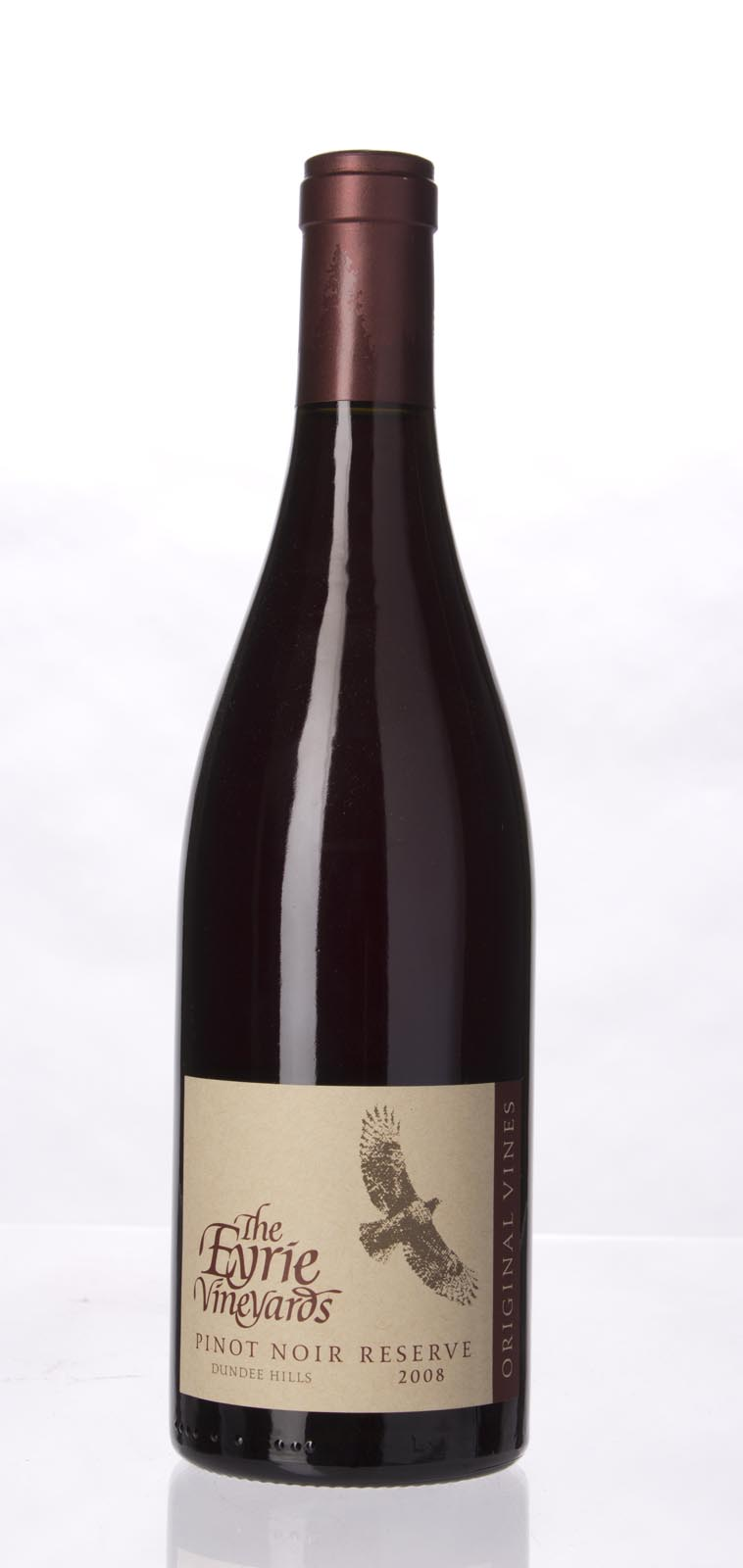 Eyrie Vineyards Pinot Noir Reserve Original Vines 2008, 750mL () from The BPW - Merchants of rare and fine wines.