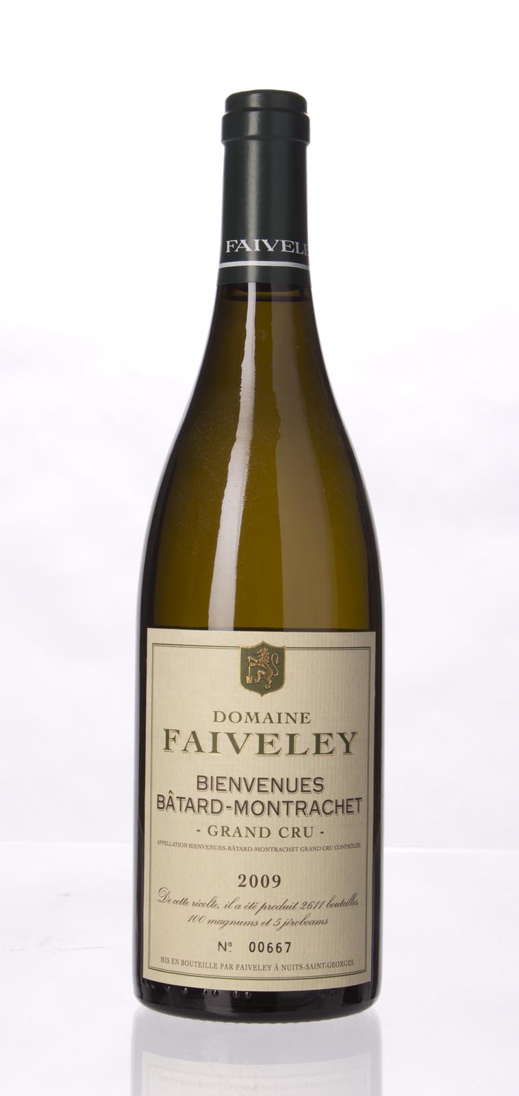 Faiveley Bienvenues Batard Montrachet 2009, 750mL (BH90-93, WS) from The BPW - Merchants of rare and fine wines.