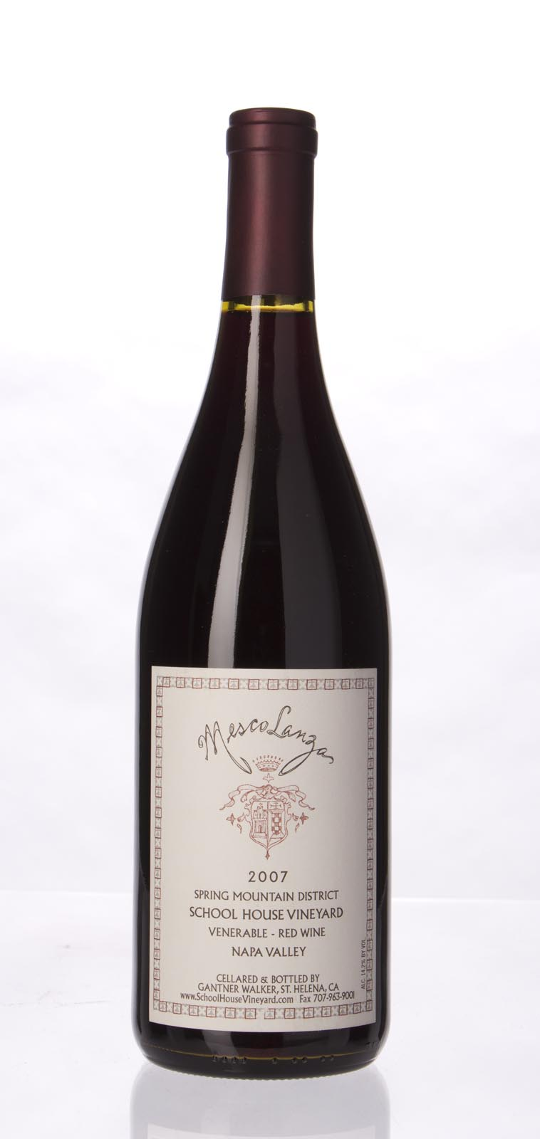 School House Mesco Lanzas Field Blend Spring Mountain 2007, 750mL (WA91) from The BPW - Merchants of rare and fine wines.