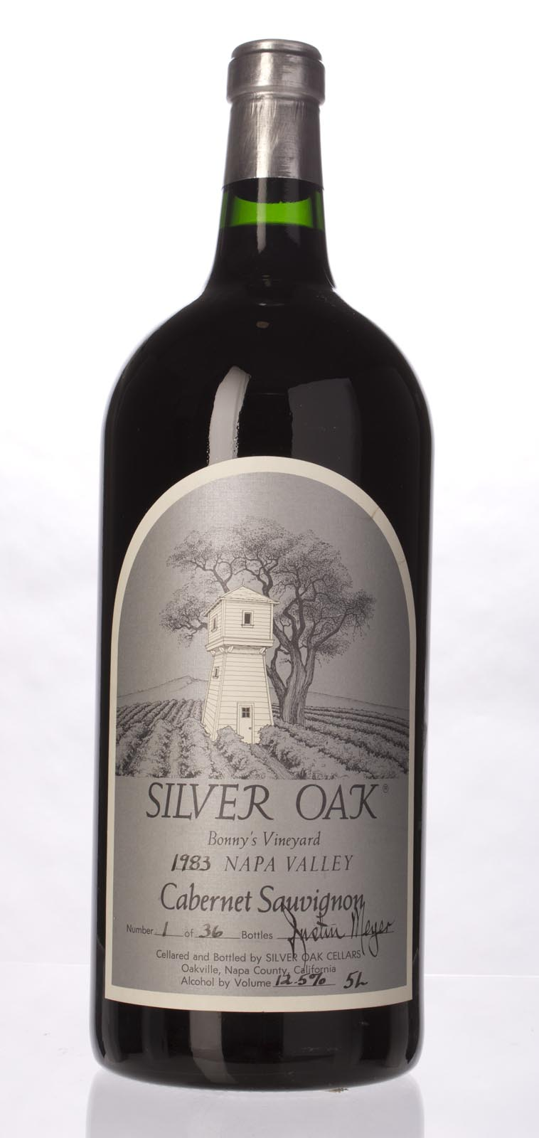 Silver Oak Cabernet Sauvignon Bonny`s Vineyard 1983, 5L () from The BPW - Merchants of rare and fine wines.